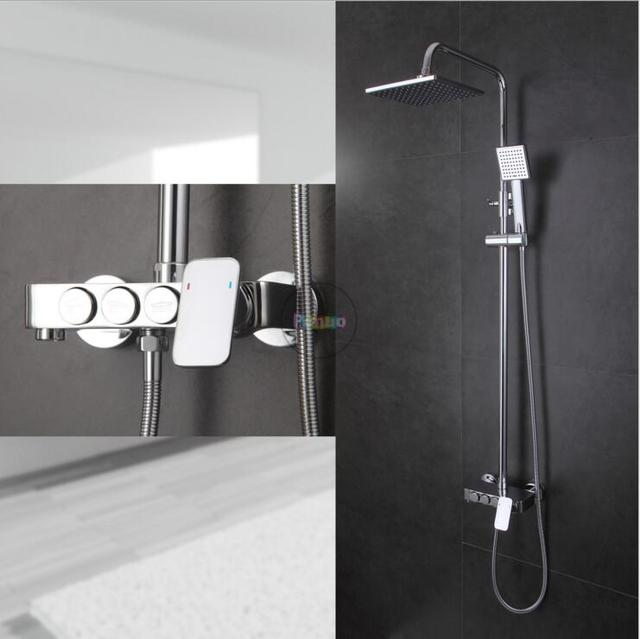 New Modern Wall Mount Shower Faucet Mixer Tap waterfall/ Rain ...