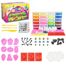 12/24pcs DIY Soft Light Clay with Box Fimo Polymer Slime Plasticine Tools Kit Air Dry Handgum Playdough Toys For Kids 12 24pcs air clay fimo polymer plasticine modelling clay light diy soft creative handgum toys diy plasticine clay learning toys