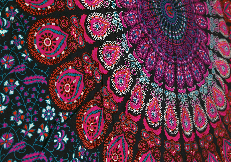 Mandala Bohemian Tapestry Wall Hanging Psychedelic Wall ...