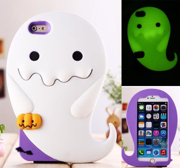 save off 1bba5 c6334 US $7.5 |New Ghost Noctilucent cover to cell Hot phone cases for iphone 6  Plus / 6 phone covers Imp silion night light phone bags & cases on ...