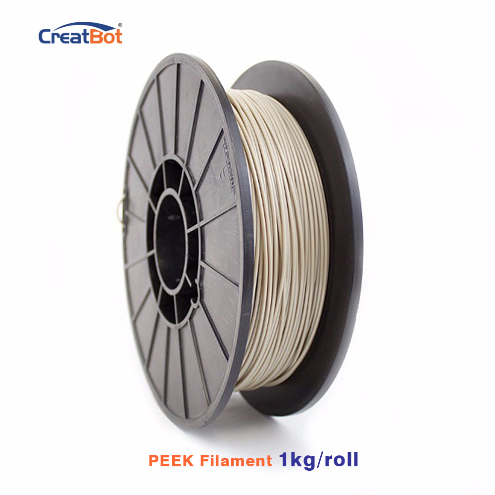 1kg CreatBot 3D Printer Filament 1.75mm Peek Filament High Temp Exotic Filament Extremely Strong Free shipping 1kg free shipping 100