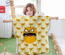 Cartoon adventure time funny Hooded baby Boys and Girls Towel Wearable Bath Towel For Kids Travel 3D print Beach Towels style-2 molly moon s hypnotic time travel adventure
