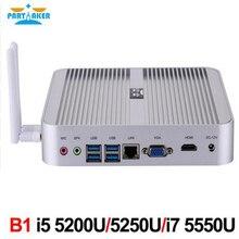 Причастником B1 Intel Dual Core I7 5550U I5 5250U 5200U 4200u мини-компьютер 4 К ТВ коробка Бесплатная доставка Распродажа