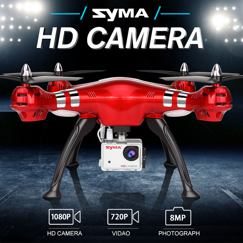 SYMA X8HG Helicopter RC Drone With 1080P HD Camera 2.4G 4CH Professional RC Quadcopter Drone Aircraft Toys For Adults Children