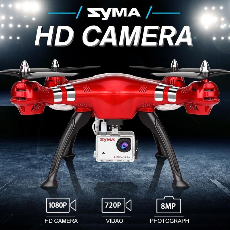 X8HG SYMA Helicóptero RC Drone Com 1080 p HD Camera 2.4g 4CH Profissional RC Quadcopter Drone Aircraft Brinquedos Para adultos Crianças