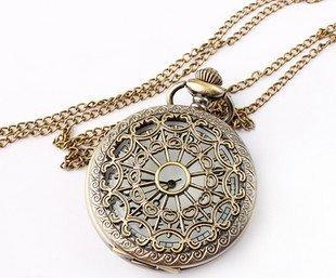 free shipping  spider web carve  pocket watch ,ebay pocket watch necklace wholesale 6pcs/lot