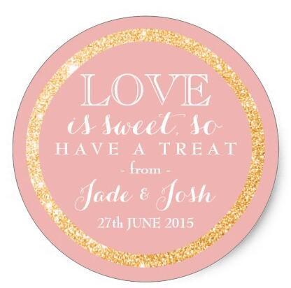 1.5inch Gold Glitter on ANY COLOR Wedding Favor Label Classic Round Stickerstickers paintglitter colorsticker remover -