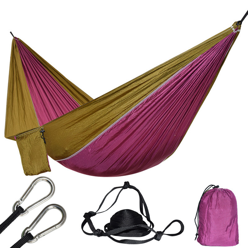 1 Person Nylon Hammock Tent Rede Chair For Backpacking Travel Swing Hamac With Two Strong Hanging Straps