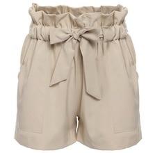 Fashion Women Casual Shorts Design Patchwork Plus Size High Waist Shorts Loose Fashionable Shorts female With Belt