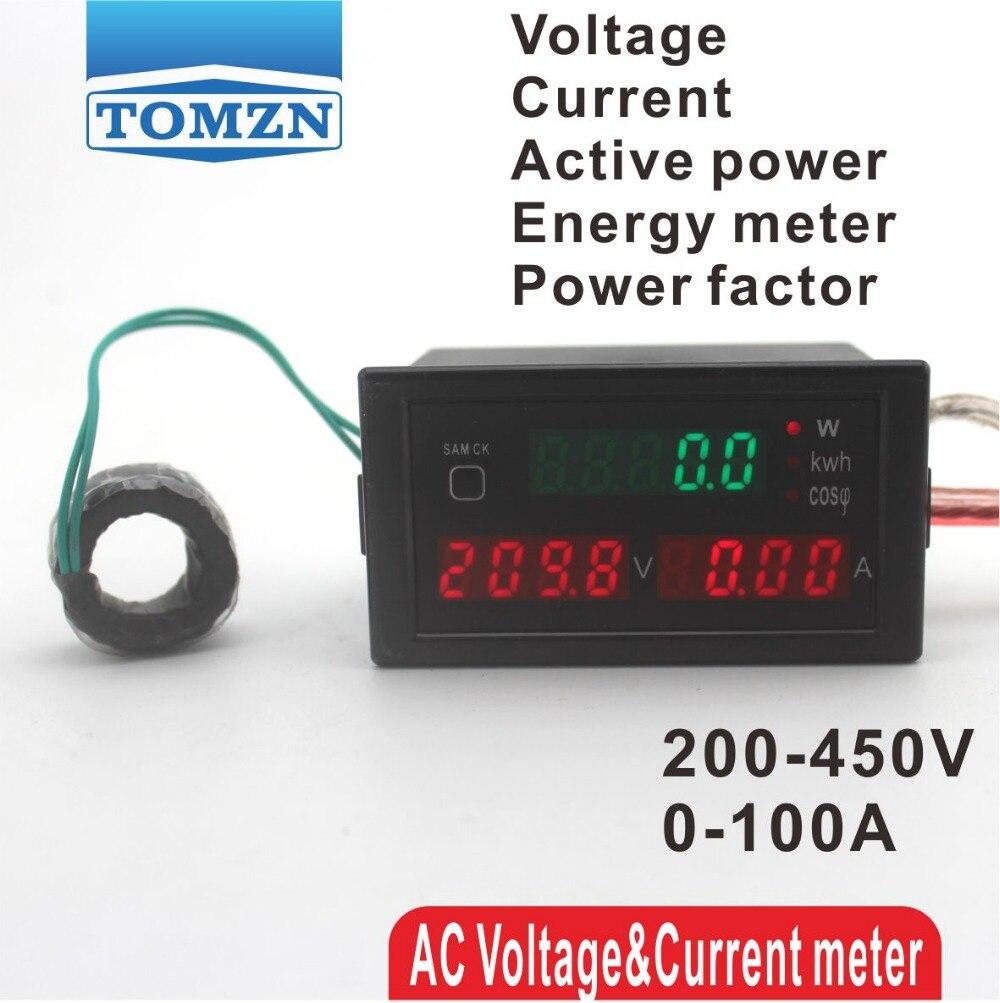 Electric Meter At Zero : D multi functional led display panel meter voltmeter