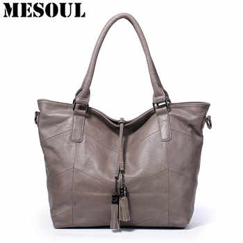 Women's Handbags Large Capacity Casual Tote High Quality Tassel Shoulder Bags Ladies Crossbody Bag 100% Soft Genuine Leather Bag - DISCOUNT ITEM  50% OFF All Category