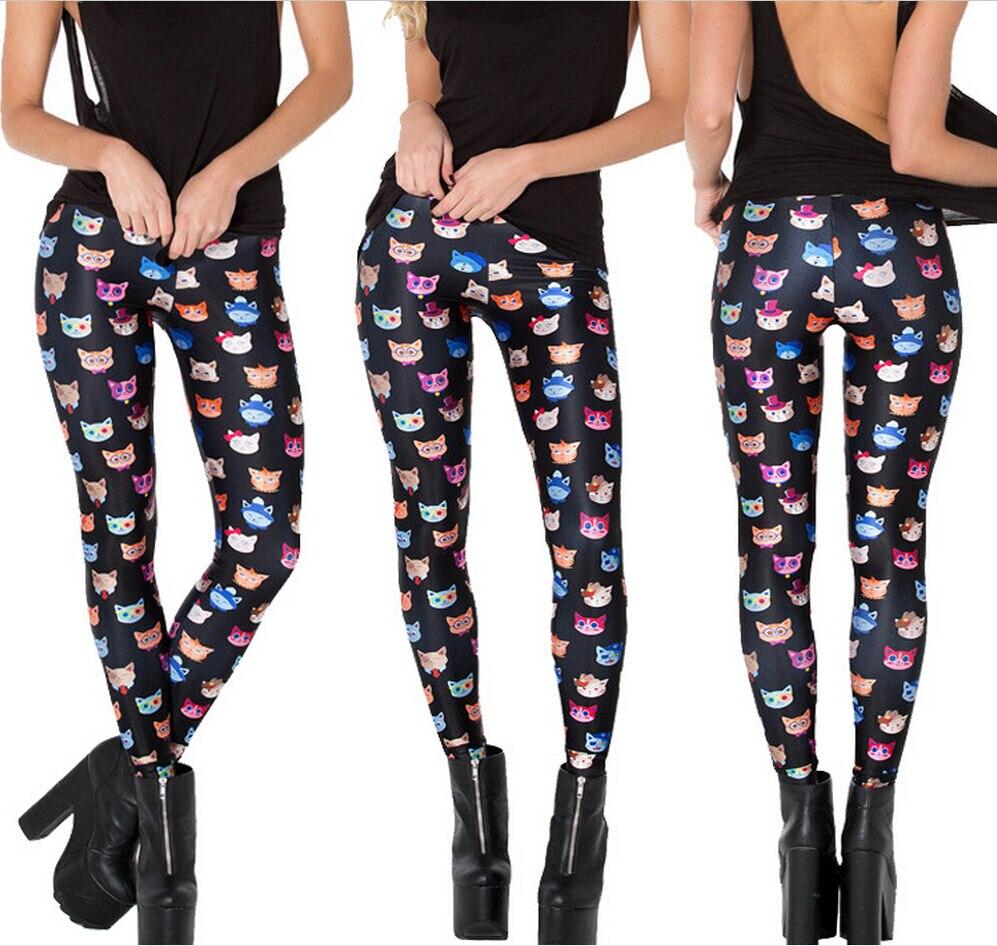 Top Quality Women Galaxy Adventure Time Leggings Rainbow Cloud Black Green Mermaid printed Leggings pants Black Milk Leggings