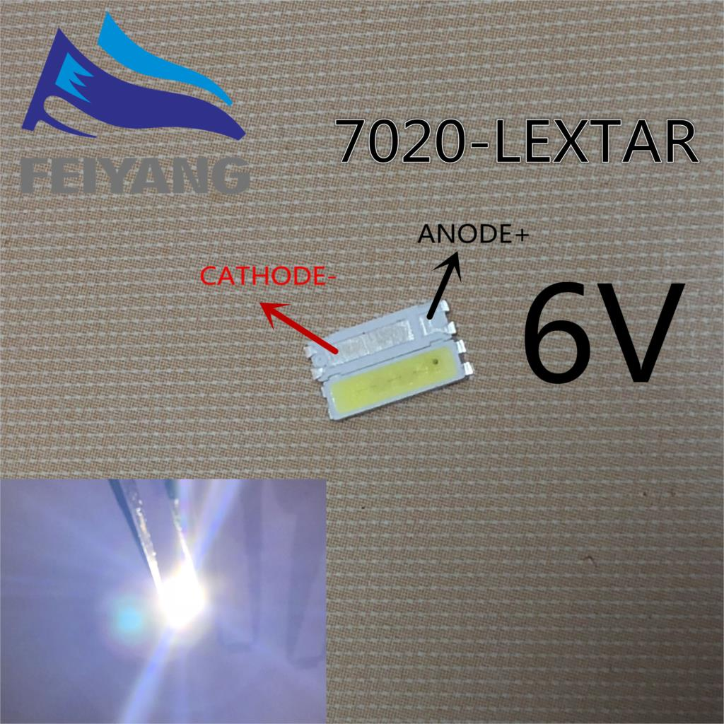 Sporting Samiore Robot 1000pcs Lextar Led Backlight Mid Power Led 0.5w 7020 6v Cool White 40lm Tv Application Providing Amenities For The People; Making Life Easier For The Population Diodes