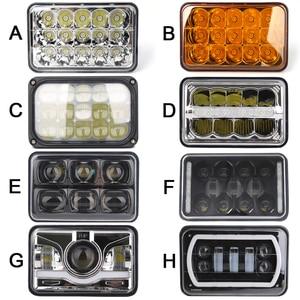 Image 1 - 4 4X6 Inch LED Chữ Nhật Đèn Pha Cho Xe Chevrolet Peterbilt 379 Buick Electra Freightliner FLD120
