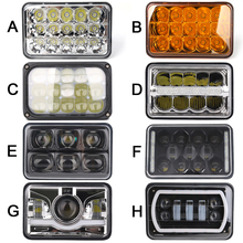 4 Uds 4x6 pulgadas LED Faros rectangulares para Chevrolet Peterbilt 379 Buick Electra Freightliner FLD120