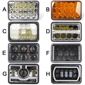 Image 1 - 4pcs 4 x 6inch LED Rectangular Headlights for Chevrolet Peterbilt 379 Buick Electra Freightliner FLD120
