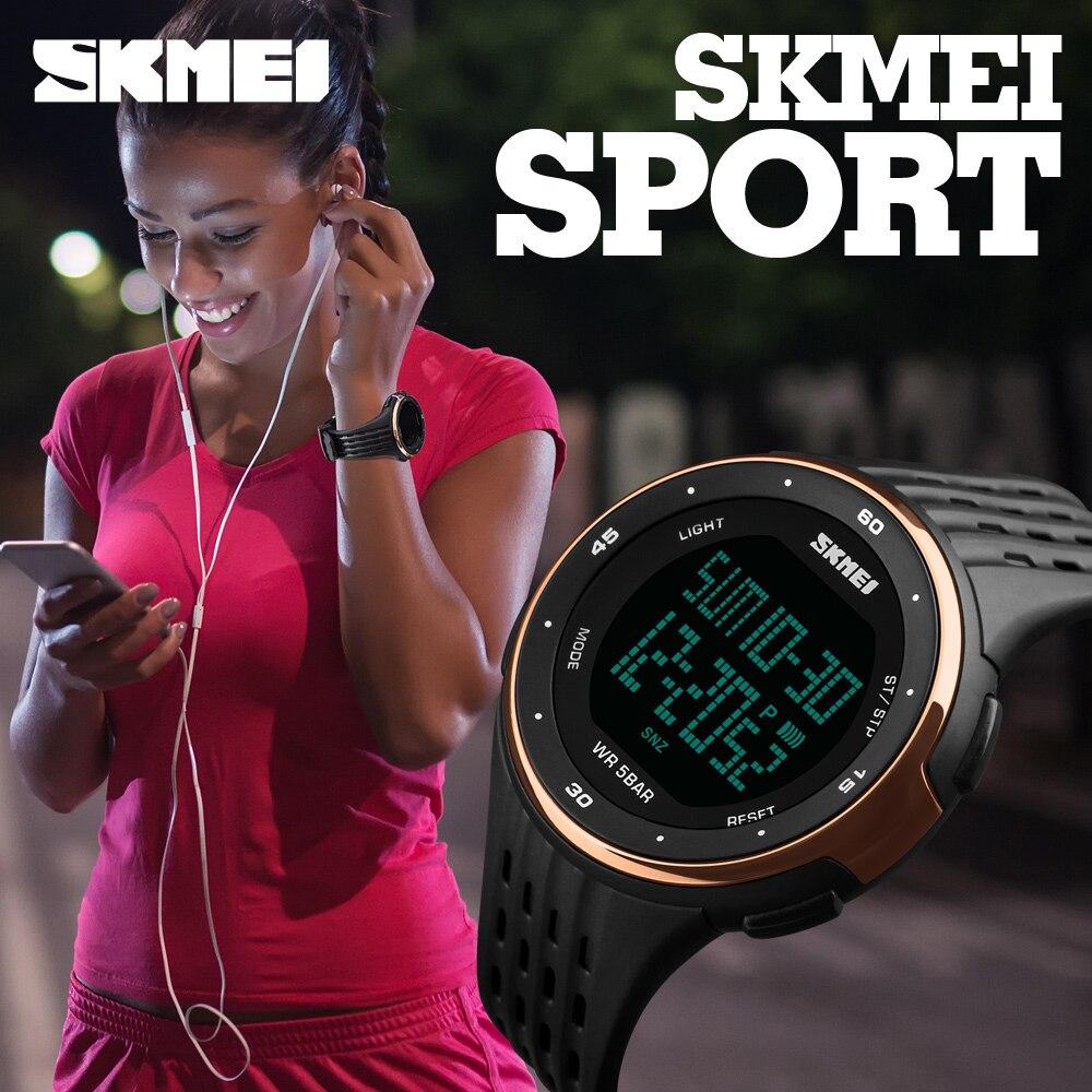 New Women Sport Watches Luxury Brand LED font b Electronic b font Digital Watch 5ATM Waterproof
