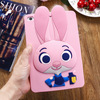 Newest 3D Cute Cartoon Rabbit Kids Shockproof Silicone Rubber Case Cover For Ipad Mini 1 2