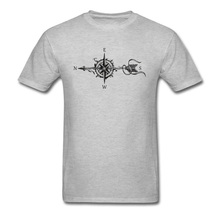 2018 New Men Tshirt Compass With Arrow Printed T-Shirt Overs