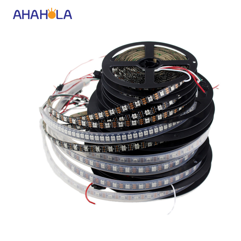 5V WS2812b tira led ws2812 30 60 144 led / m direccionable rgb led strip similar con sk6812 pixel strip