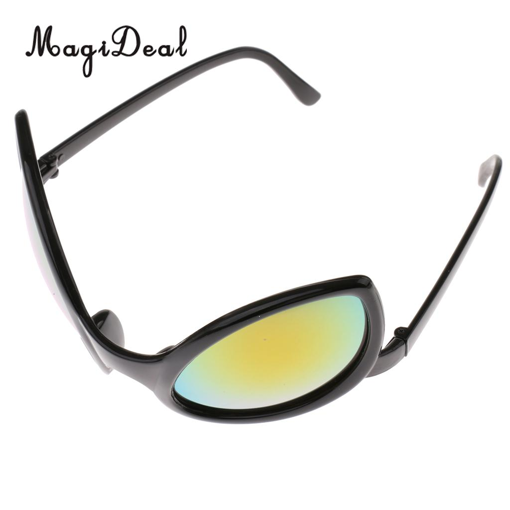cd57fddc487 Homyl Set of 6pcs Funny Black Red Green Fashion Alien Sunglasses Rainbow  Lenses Eyewear Glasses Party Dressing ...