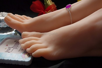 Realistic One Pair Silicone Female Mannequin Dummy Foot ,Fake Feet Model,real silicone mold shoes and socks show