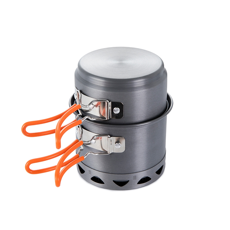 Fire Maple Outdoor Camping Hiking Foldable Heat Exchanger Cooking Cookware Aluminum Alloy Pot for 1 2 Persons Light FMC 217