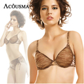 Brand new summer ultrathin comfortable bra & brief sets underwear sexy net print push up bras with womens panty set BS245