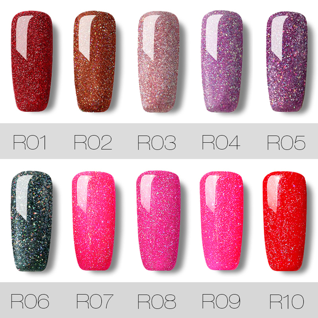 Gel Nail Polish Neon Rainbow Shimmer