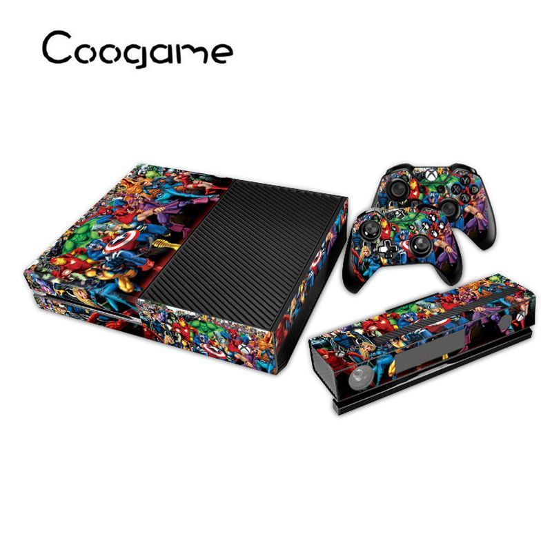 Compare prices on kinect xbox 1 online shoppingbuy low price heros custom skins for xbox one console 2 controller pads 1 kinect for microsoft sciox Gallery