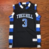MM MASMIG Lucas Scott #3 One Tree Hill Ravens de Basket-Ball Jersey Piqué Noir S M L XL XXL XXXL