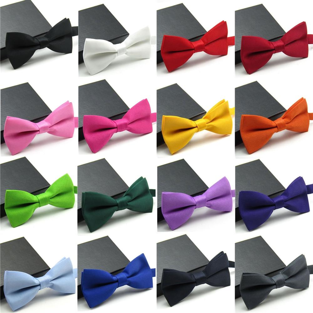 Veektie Warna Solid Mode Dasi kupu-kupu Untuk Pria Bowtie Tuxedo - Aksesori pakaian - Foto 2