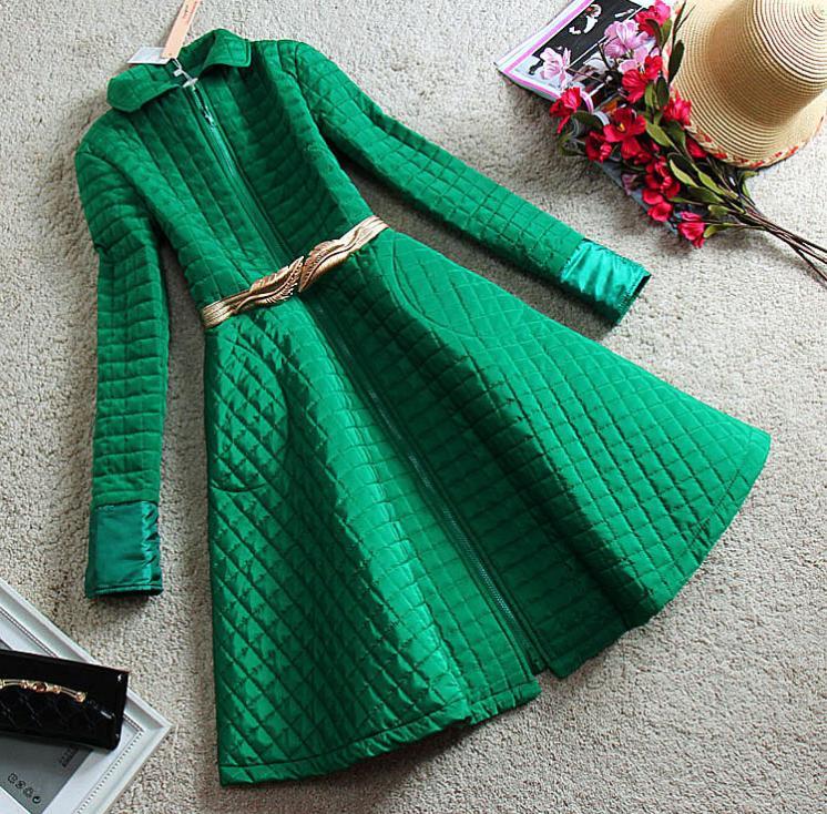 Swing Élégant Laine vert Manteau De Noir Hiver Vestes Longues Pardessus Livraison rose Femmes Coton Casua Gratuite 8qSwqYg1