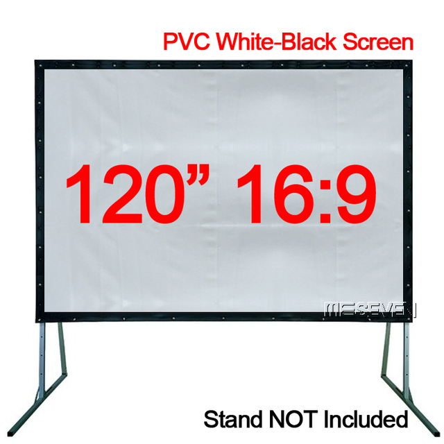 120 inches 16:9 Professional Foldable PVC Soft White Black Home ...