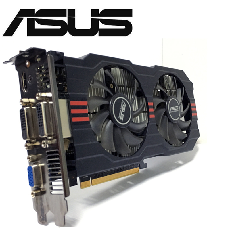 Asus GTX-750TI-OC-2GB GTX750TI GTX 750TI 2G D5 DDR5 128 poco PC de escritorio de tarjetas gráficas PCI Express 3,0 Video por computadora tarjeta de