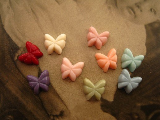 8mm resin cabochon bead Cameo BUTTERFLY DIY Handmade jewelry Pendant Accessory wholesale 100pcs/lot