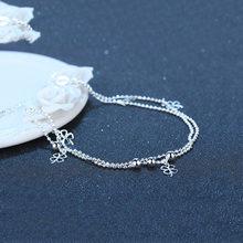 Модные браслеты на ногу lucky с изображением четырехлистного