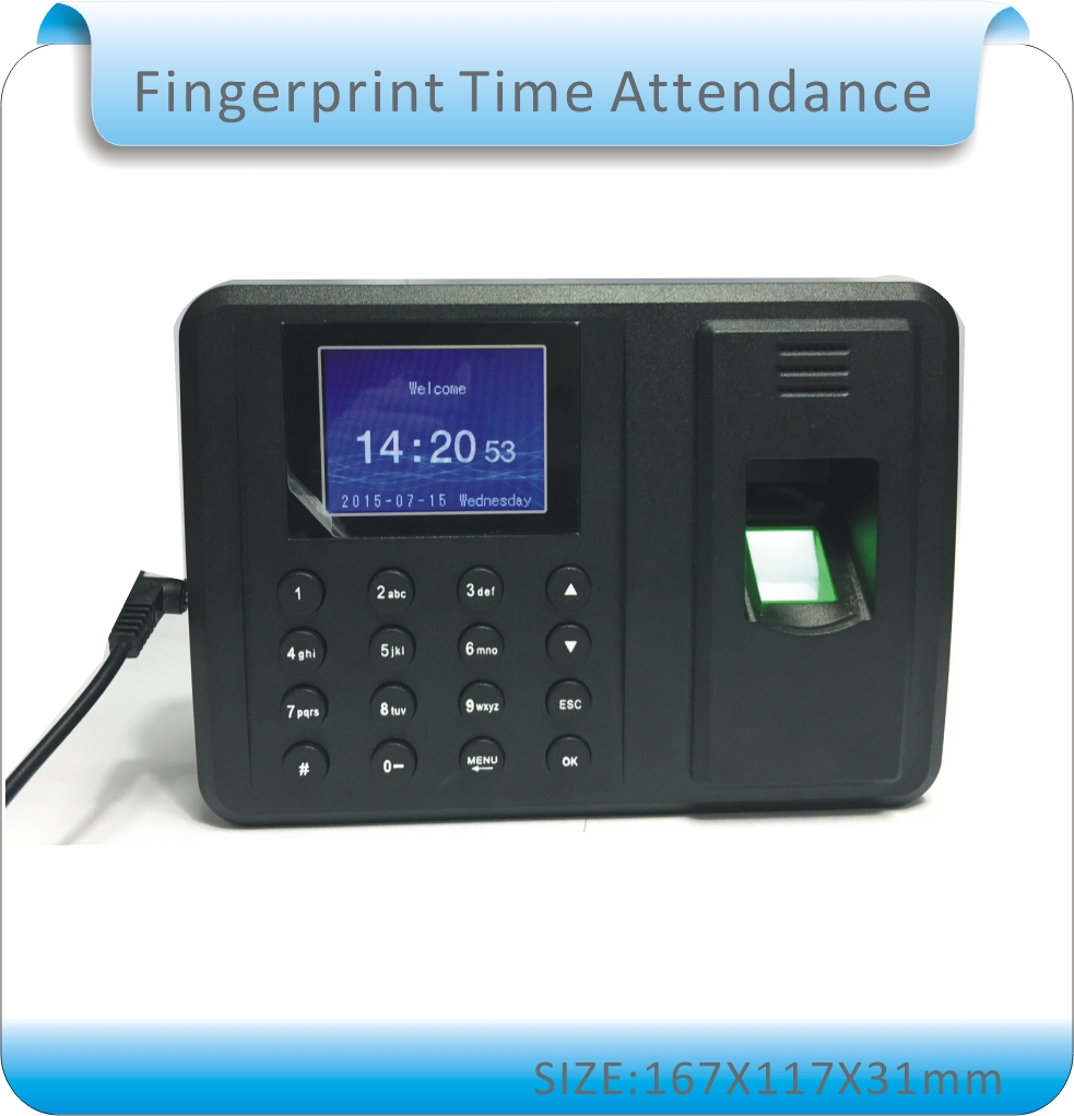 Free shipping  Biometric Fingerprint Time Clock Recorder Attendance Employee Digital Electronic / English voice danmini biometric fingerprint time attendance clock recorder employee digital electronic rfid reader scanner system for door loc