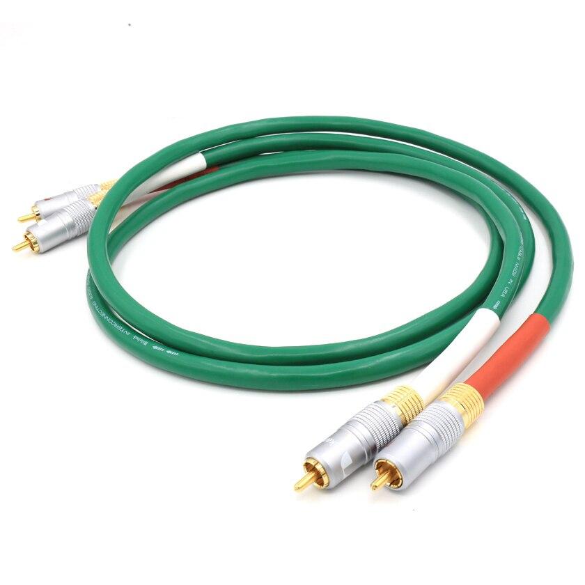 Freies verschiffen Mclntosh 2328 Reinem Kupfer HiFi Audio kabel rca-verknüpfungskabel mit Nakamichi cinch-stecker