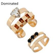 Dominated Stylish Minimalist Alloy Resin Ring Lady