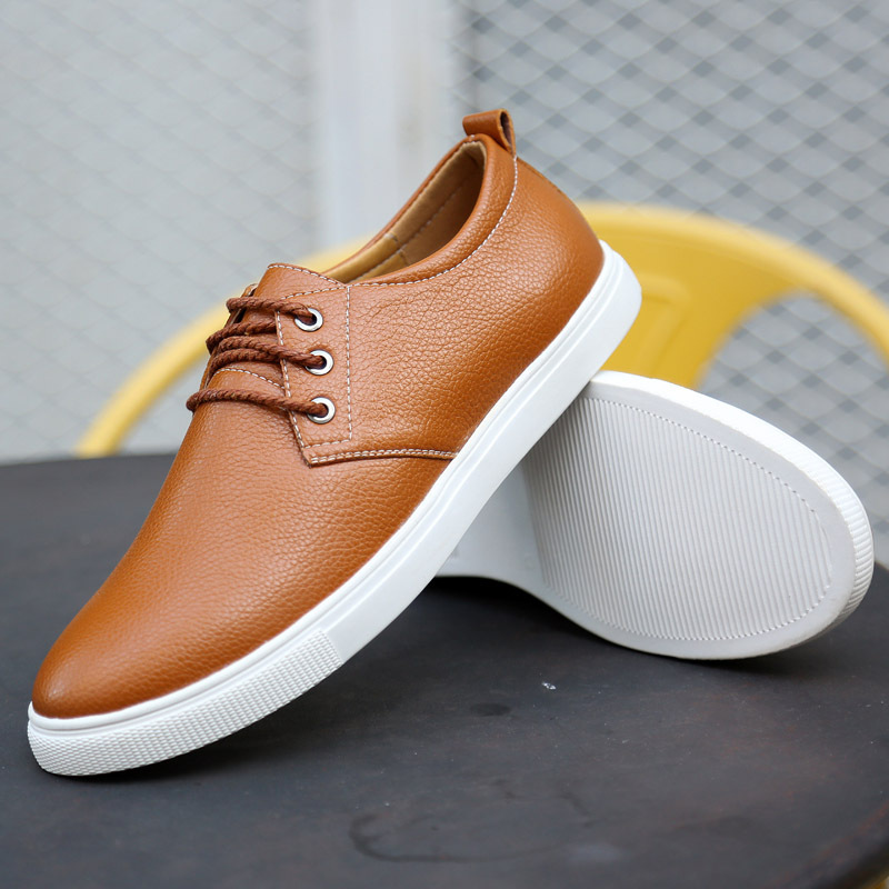21e9aaf7f74 2019 Mens Shoes Genuine Leather Brand New Lace Up Boat Shoes Men s Loafers  Flats Driving Shoes Business Leather Shoes Men-in Men s Casual Shoes from  Shoes ...