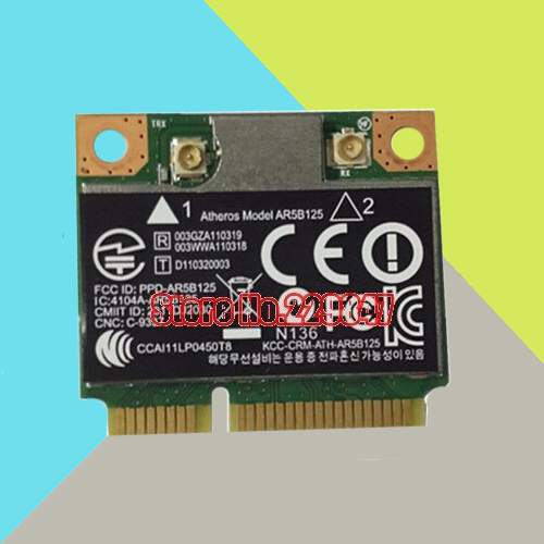 Qualcomm Atheros AR9485 AR5B125 Half Mini PCI Express PCIe Wlan Wifi