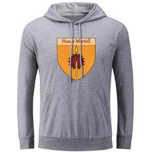 House Martell Unbowed Unbent Unbroken Hoodies Men Women Game of Thrones Oversized Sweatshirt Pullover Punk Jackets for Boy Girl