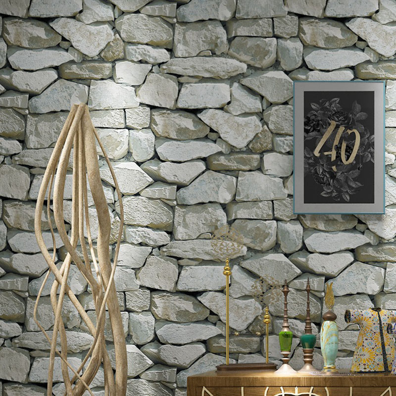3d stacked stone stone effect wallpaper download wallpaper that looks like stone. Black Bedroom Furniture Sets. Home Design Ideas