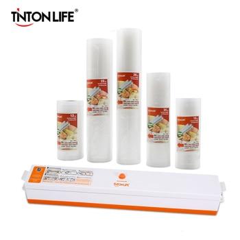 TINTON LIFE فراغ جهاز غلق أكياس الطعام مع 5 لفات فراغ السدادة حقيبة (12X500 سنتيمتر ، 15X500 سنتيمتر ، 20X500 سنتيمتر ، 25X500 سنتيمتر ، 28X500 سنتيمتر)