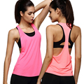 WANAYOU Summer Sexy Women Dry Quick Tank Top,S/M/L Low-cut T Back Loose Sleeveless Sportwear Top Vest Singlet Shirt For Lady