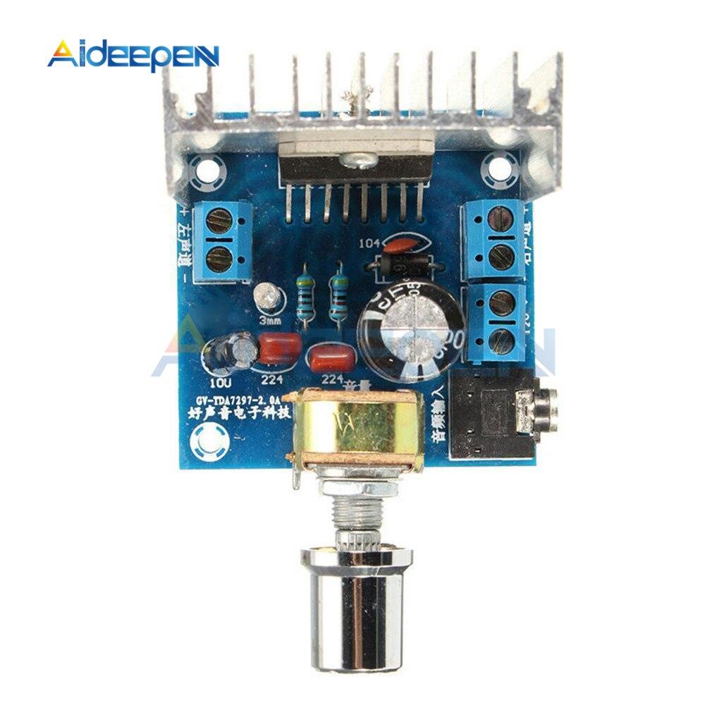 TDA7297 Amplifier Board DC 12V 2x15W Digital Audio Dual-Channel Module Version B 15W +15W Grade 2.0 Finished