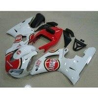 Precio barato de la motocicleta molde de inyección kit de carenados para YAMAHA 1998 1999 YZF R1 98 99 YZFR1 Lucky strike carenado plástico abs kits