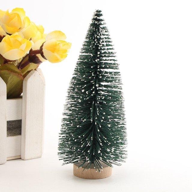online shop kiwarm mini artificial christmas tree party ornaments figurines miniatures christmas home diy decorations crafts gift 10 30cm aliexpress
