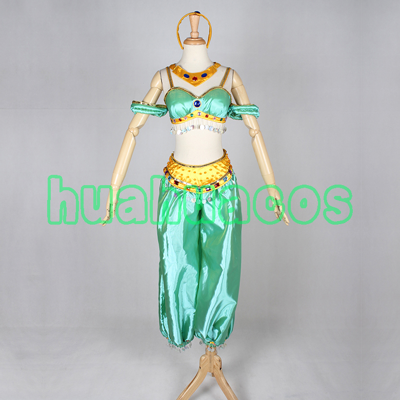 Game Movie Aladdin and the Magic Lamp Princess Jasmine Adults Cosplay Anime Costume Party Uniform Clothing Any Size NEW